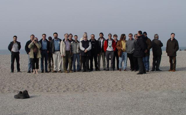 Einige Teilnehmer am Strand