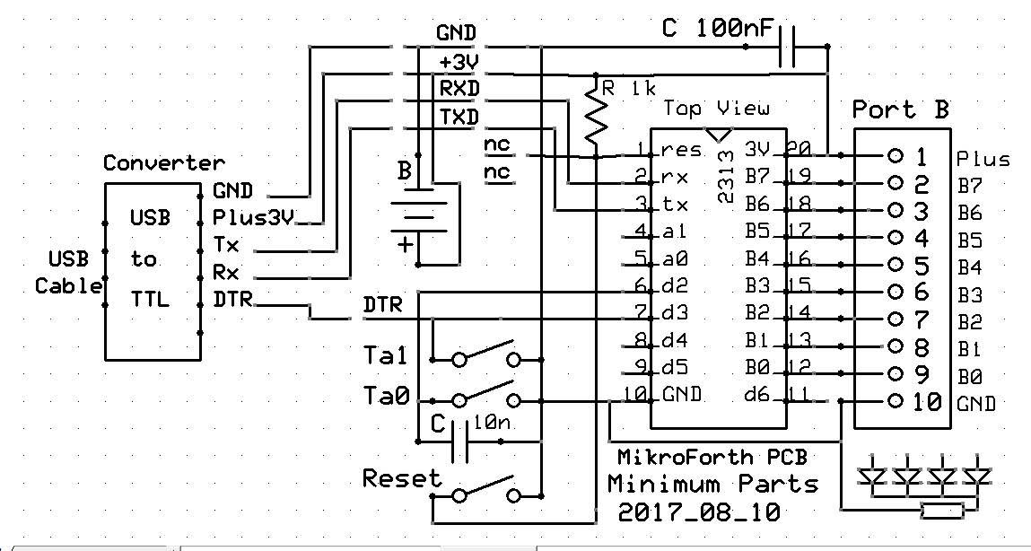 Minmaler Schaltplan / minimum circuit diagram