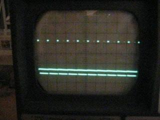 Rechtecksignal (PWM), Spannung an x liegt nur etwas über Masse. PWM mit kurzem Puls