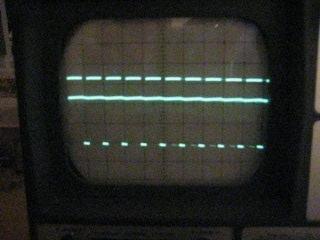 Rechtecksignal (PWM), Spannung an x liegt schon weit oben in der Nähe der Versorgunsspannung. PWM mit langem Puls