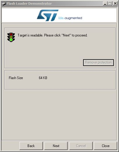 ST Flash Demonstrator GUI 1