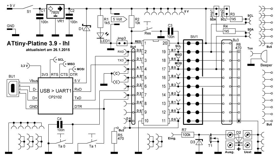 Circuit diagram of the board 3.0